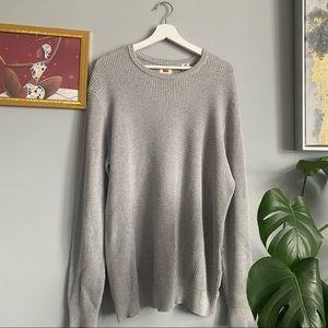 Levi's Waffle Knit Grey Sweater